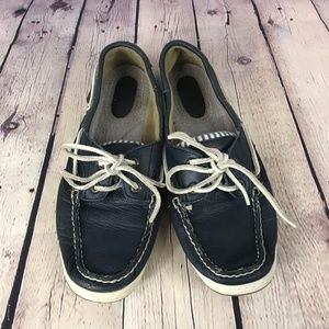 Sperry Top Sider Navy Striped Loafer Boat Shoe